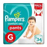 Pañales Pampers Confort Sec Pants - Ver Talles