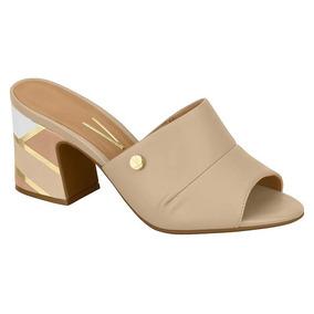 5df41861de Sandália Bege Salto Grosso 36 Vizzano - Sapatos no Mercado Livre Brasil