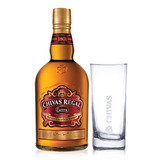 Kit Whisky Chivas Regal Extra 750ml + Copo De Vidro