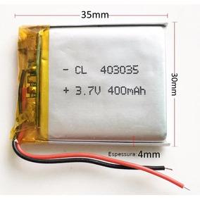 Bateria 3,7v 400mah Polímero Lítio Li-po Recarregável