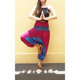 Calça Indiana Feminina Saruel Yoga Hippie Hipister Vinho