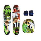 Skate Infantil Ben 10 + Acessórios Segurança!!