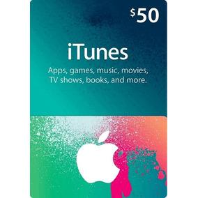 Cartao Pre-pago Card Presente Apple Itunes $50 Usd Americano