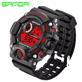 Relógio Militar Sanda S-shock Prova D`água 326 Barato