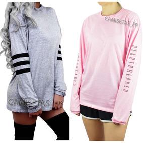 Camiseta Feminina Tumblr - Camisetas no Mercado Livre Brasil 4edf47903d5