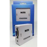 Convertidor Vga A Hdmi Con Audio 1080p Laptop Y Pc Fullhd