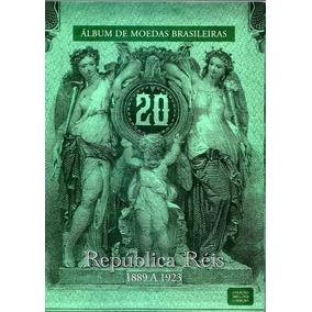 Rco - Álbum Moedas Brasileiras - República Réis 1889 A 1923