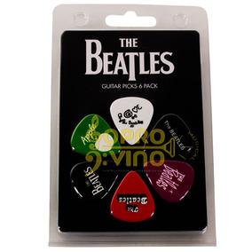 Palheta Violão Guitarra The Beatles Tb4 Pct 6 Unidades 073mm