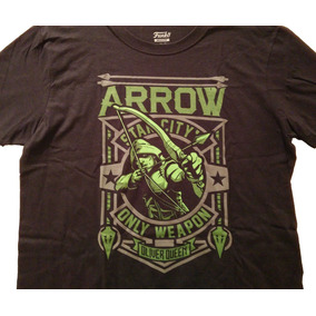 Funko Pop Playera The Arrow Exclusiva Dc Comics Talla Grande