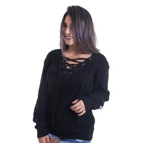 Blusa Feminina Preta Trancado Nas - Camisetas e Blusas Manga Longa ... 7d9344ca49b