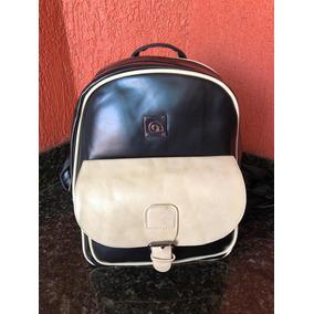 Mochila Bag Preto Com Bege