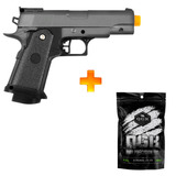 Pistola Airsoft Galaxy G10 Full Metal + 2000 Bbs 0.12g