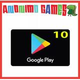 Google Play Play Store Prepaga Compras Valor 10 Usd / Usa