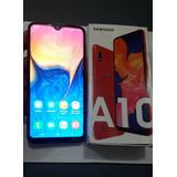 Samsung A10 Vermelho 32gb Tela6.2 13mp Dual Chip