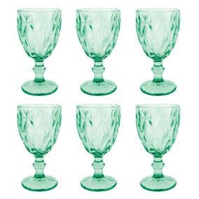 65e6ec80e Taca Vidro P agua 260ml Azul Tiffany C 6un 66930 - 136577
