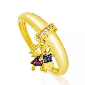 9780f946806a6 Pingente Menina De Diamantes, Safira, Ouro 18k - Joias e Relógios no ...