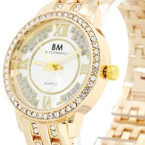 Reloj Mujer Análogo Blackmamut Ejecutivo Moderno Zirconias