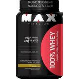 100% Whey Protein Max Titanium Sabor Chocolate