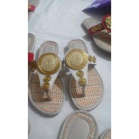 Sandália Com Capim Dourado