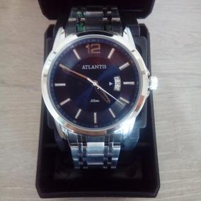 Relógio Atlantis Casual Original Niquilado A Prova D