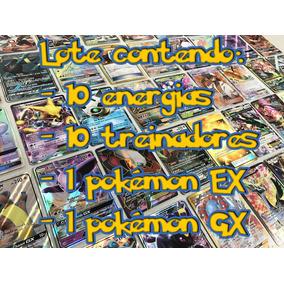 Lote Com 10 Energias+10 Treinadores + Uma Ex E + Uma Gx!!!