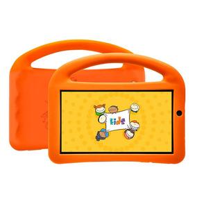 Tablet Dl Futura Kids,tela De 7, 8gb + Capa Com Alça Laranja