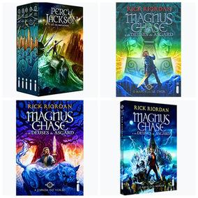 Box Percy Jackson E Os Olimpianos + Deuses De Asgard - 8 Vol