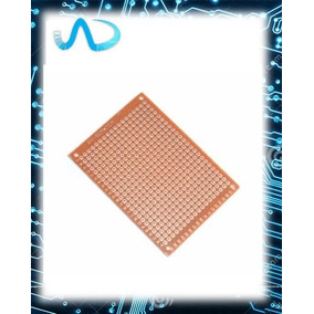 Placa De Fenolite Ilhada 5 X 7 Cm Pcb Perfurada