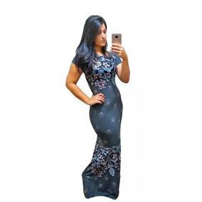 Vestido Sereia Moda Evangélica Estampas Lindas Frete Gtátis