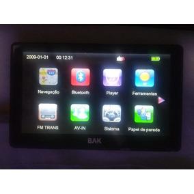 Gps Bak Bk-gps6003hd Ligando Display Ok Touch Trincado Nfunc