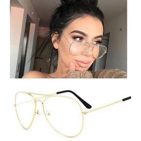 03d4adcf76891 Oculos De Grau Aviador Feminino Dourado - Óculos Armações no Mercado ...