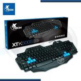 Teclado Gamer Xtech Xtk500s Con Teclas De Juego Negro