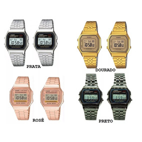 Kit 10 Relógios Vintage Aço Rosê Prata Preto Dourado Barato
