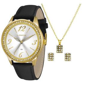 Relógio Feminino Lince Kit Colar E Brincos Lrc4343l K156s2px