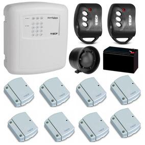 Kit Alarme Residencial Ecp 8 Sensores S/ Fio (configurado)
