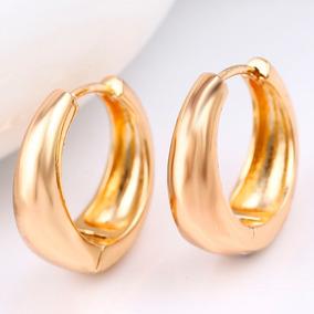 1a57992916ad Arracadas Lisas De Oro 100% - Aretes Oro en Mercado Libre México