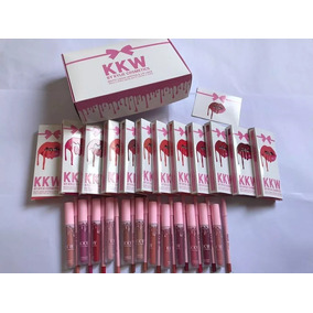 Labial Kylie Kkw + Delineador Caja X12 Kits Docena