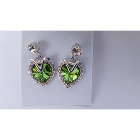 Brinco De Cristal Swarovski Verde - Joias e Relógios no Mercado ... 64e4adf1fc