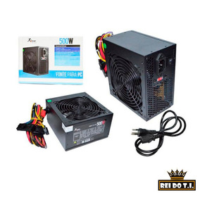 Fonte Para Pc Atx 500 Watts Leboss Kp-522 - Rei Do Ti