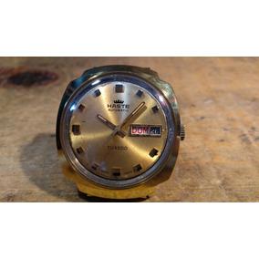 Reloj Haste Automático Modelo Tuxedo Cada Con Baño De Oro
