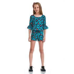 Macaquinho Acostamento Infantil Fashion Animal Joy Azul
