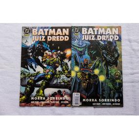 Hq Batman Juiz Dredd - Morra Sorrindo Coleção Em 2 Edições