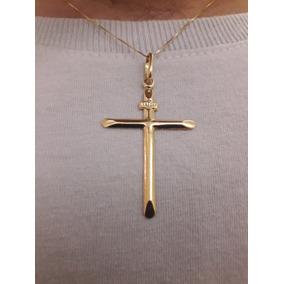 27c2abe7c2253 Crucifixo 3 Gramas Ouro 18k - Joias e Relógios no Mercado Livre Brasil