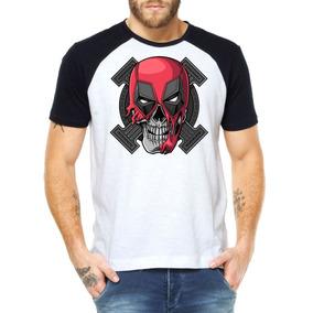 Camisetas Masculinas Deadpool Caveira Marvel Heróis Swag Mcd f0f0e6fd428