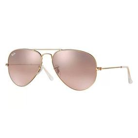 Óculos De Sol Aviador Ray Ban Rose