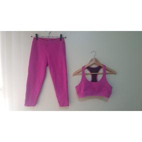 Conjunto Fitness Rosa Top Legging Ace Sports Tamanho M