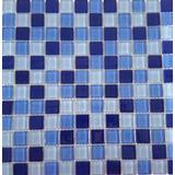Kit C/ 20 Papel Parede Pastilha Vidro Azul Piscina 10061