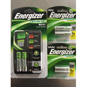 Kit Baterias Recargables Energizer Cargador + 4aa + 2aaa