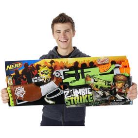 Super Lançador Nerf Zombie Strike Slingfire Dardos - Hasbro