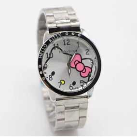 Reloj De Pulser Hello Kitty Metal Acero Inoxidable Dama